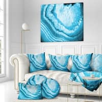 Designart 'Large Blue agate' Contemporary Art on wrapped Canvas