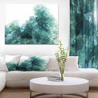 Designart 'Aquamarine geode geological crystals' Stone Photographic on Wrapped Canvas