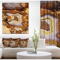 Designart 'Agate Geode' Stone Photographic on Wrapped Canvas