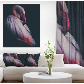 Designart 'Pink Flamingo' Contemporary Art on wrapped Canvas