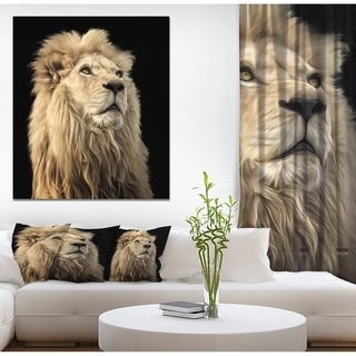 Designart 'Lion King in Back Backgroun' Contemporary Art on wrapped Canvas (4 options available)