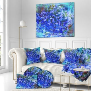 Designart 'Bouquet of Blue Flower ' Floral Painting Print on Wrapped Canvas