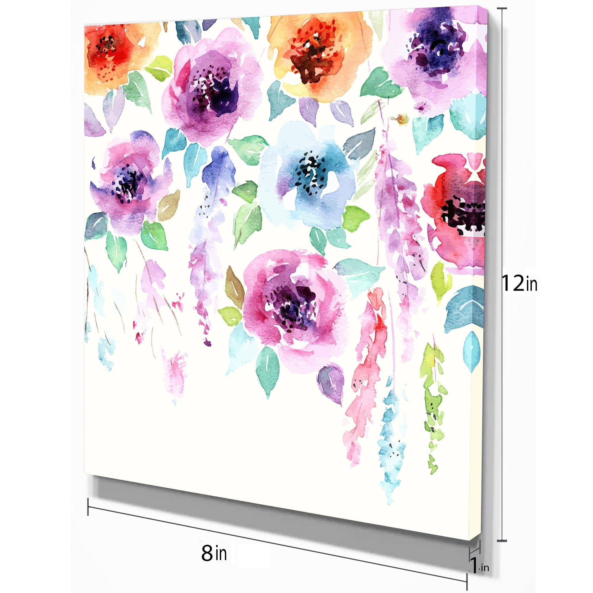 Shop Designart Pastel Watercolor Flower Floral Painting Print On