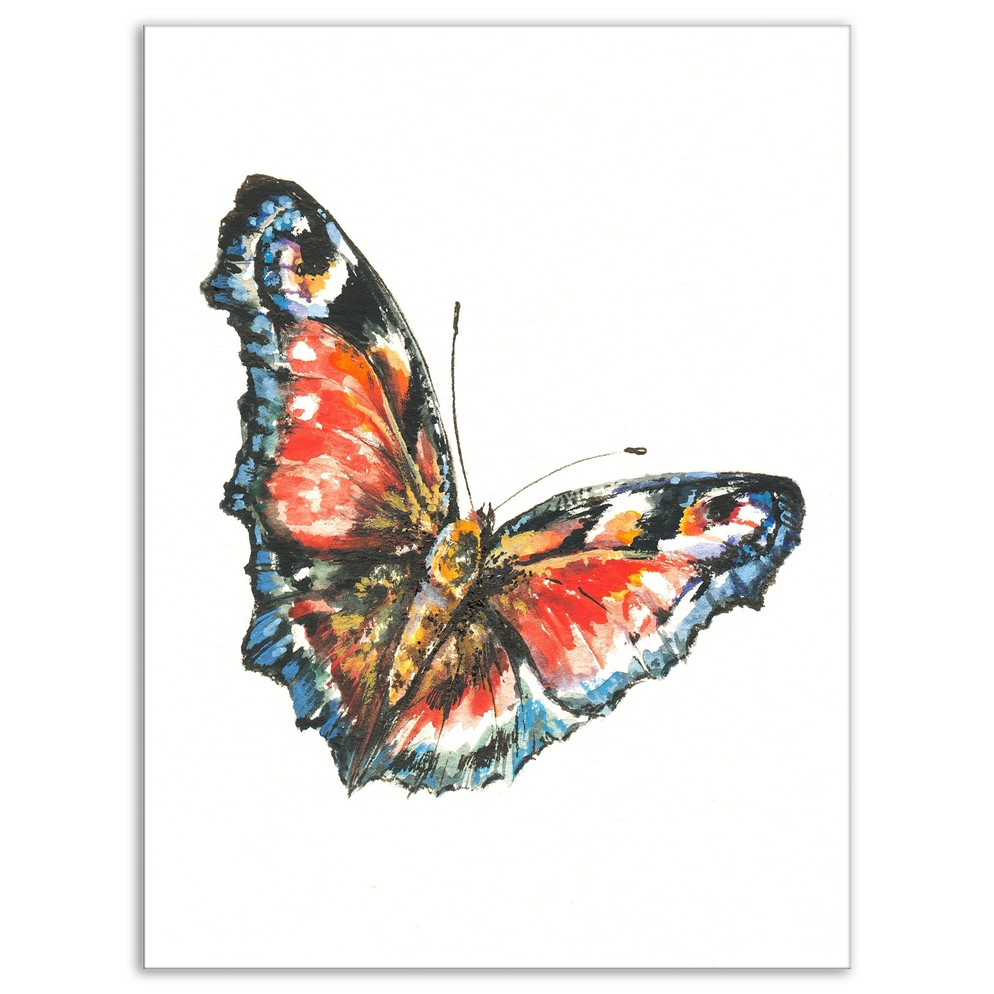 Shop Designart Colorful Butterfly Animals Painting Print On