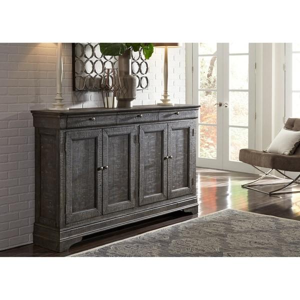 Shop Liberty Melissa Grey 4 Door Accent Cabinet On Sale