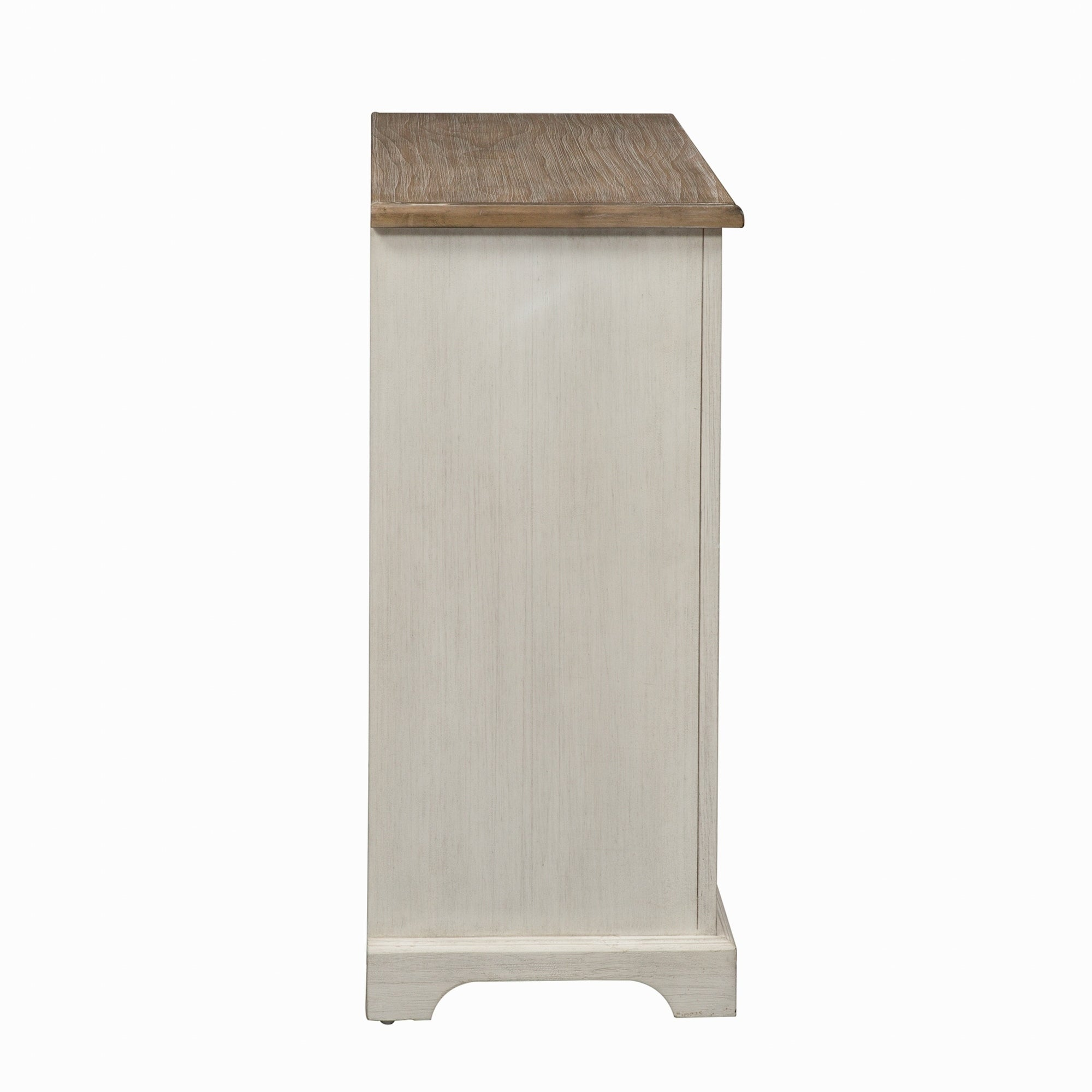 Camille Antique White 2 Door Mirrored Accent Cabinet Overstock 21276918