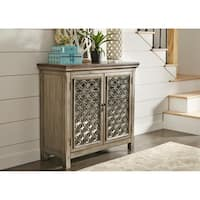 Tracy White Dusty Wax 2-door Accent Cabinet
