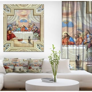 Designart 'Last Supper' People Art on wrapped canvas