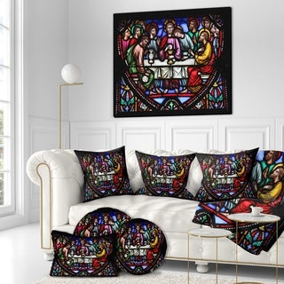 Designart 'Last Supper in the cathedral of Brussels' Religious Art on wrapped canvas