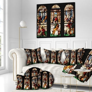 Designart 'The Last Supper in Windows Panel' Religious Art on wrapped canvas