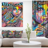 Designart 'Woman Portrait In Your Dreams' Glamour Painting Print on Wrapped Canvas