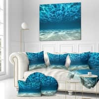Designart 'Ocean Bottom Beneath the Surface' Sea & Shore Photography on wrapped Canvas
