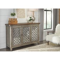 Tracy White Dusty Wax 3-door Accent Cabinet