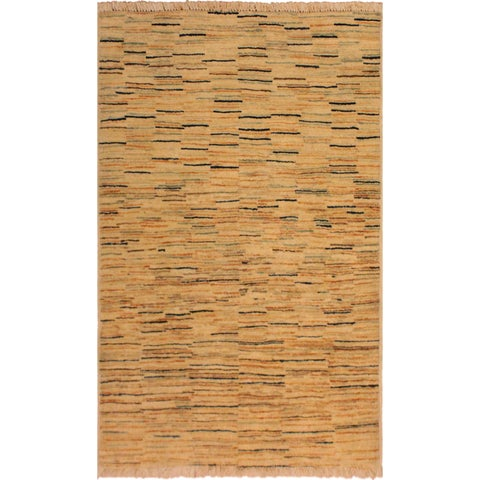 "Gabbeh Sabina Ivory/Orange Hand-Knotted Wool Rug (2'8 x 3'11) - 2' 8"" x 3'11"""