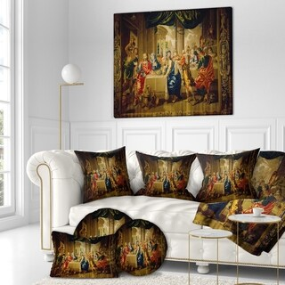 Designart 'Jesus Tapisery Cathedral in notre dame' Religious Contemporary on Wrapped Canvas