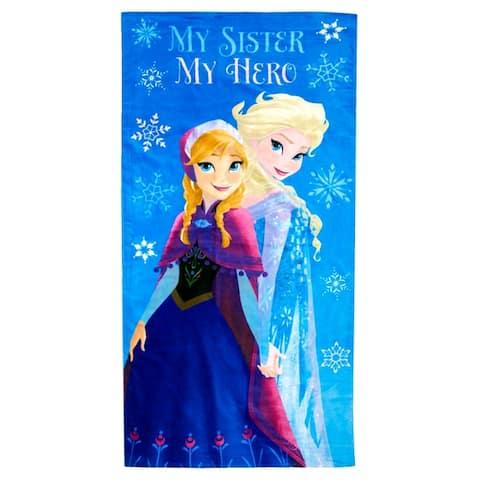 Disney Frozen My Sister My Hero Cotton Beach/Bath Towel