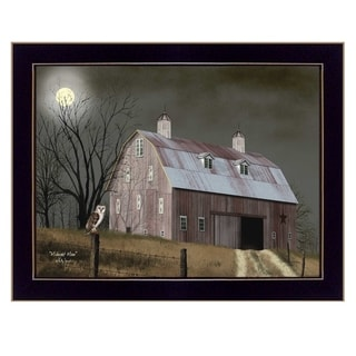 """Midnight Moon"" by Billy Jacobs, Ready to Hang Framed Print, Black Frame"