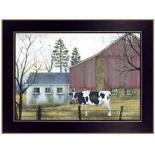 """""""Holstein"""" by Billy Jacobs, Ready to Hang Framed Print, Black Frame"""