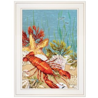"""""""Lobster"""" by Barb Tourtillotte, Ready to Hang Framed Print, White Frame"""