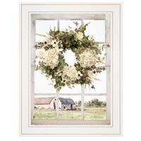 """Pleasant View"" by Lori Deiter, Ready to Hang Framed Print, White Window-Style Frame"