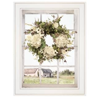 """""""Pleasant View"""" by Lori Deiter, Ready to Hang Framed Print, White Window-Style Frame"""