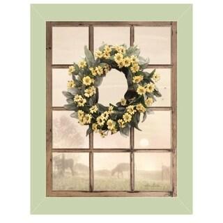 """Country Gazing"" by Lori Deiter, Ready to Hang Framed Print, Sea Foam Green Window-Style Frame"
