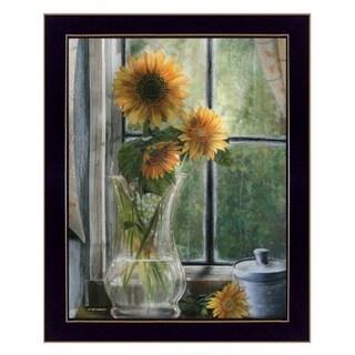 """Morning Flower"" by ED Wargo, Ready to Hang Framed Print, Black Frame"