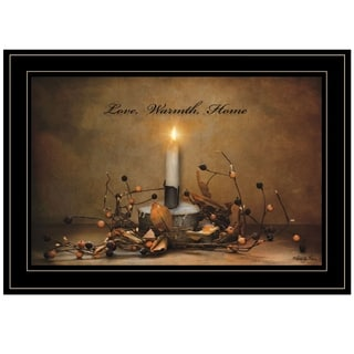 """Love, Warmth, Home"" by Robin-Lee Vieira, Ready to Hang Framed Print, Black Frame"