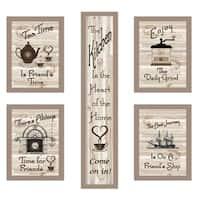 """Kitchen Friendship Collection"" 5-Piece Vignette, Taupe Frame"
