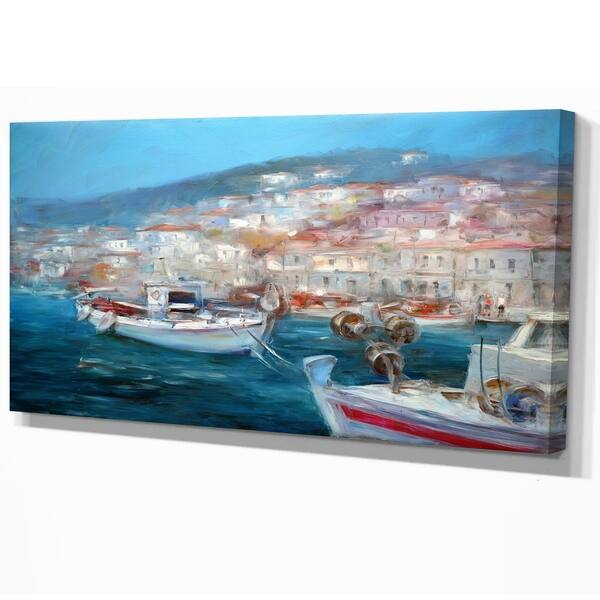 Designart Venice Italy Fishing Boat On The Island Harbor Nautical Print On Wrapped Canvas Overstock 21277955