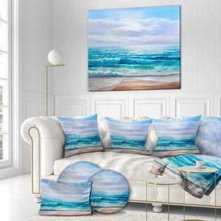 Designart 'Calming Ocean' Sea & Shore Photographic on wrapped Canvas