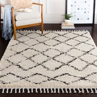 "Stevie Bohemian Patterned Shag Area Rug - 2'7"" x 7'3"" Runner"