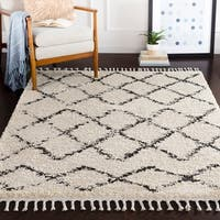 "Stevie Bohemian Patterned Shag Area Rug - 5'3"" x 7'3"""