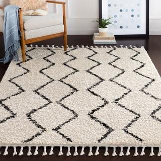 "Jada Moroccan Stripe Shag Area Rug (5'3"" x 7'3"") - 5'3"" x 7'3"""