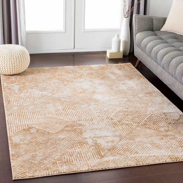 "Contemporary Elegance Cream Area Rug (5'3"" x 7'3"") - 5'3"" x 7'3"""