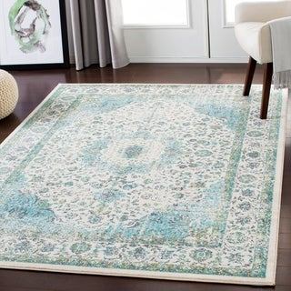 "Lena Light Blue Traditional Area Rug - 5'3"" x 7'3"""