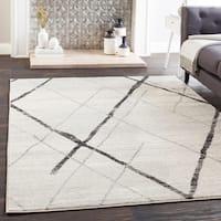 "Mellie Gray Contemporary Lines Area Rug - 5'3"" x 7'6"""