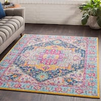 "Elora Bright Boho Medallion Area Rug - 5'3"" x 7'6"""