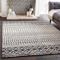 "Edie Black and White Bohemian Area Rug - 5'3"" x 7'6"""