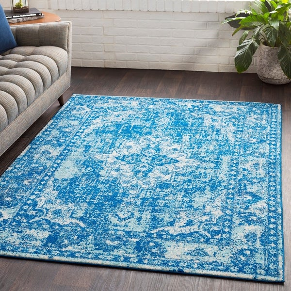 "Ellie Distressed Oriental Area Rug - 5'3"" x 7'6"""