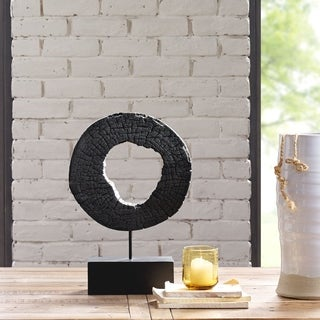 Ink and Ivy Russo Wood Black Decoration (Small)