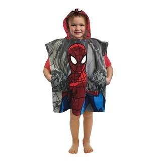 Marvel Spiderman Woosh & Thwip Official Pocket Frenz Cotton Bath/Beach Hooded Towel