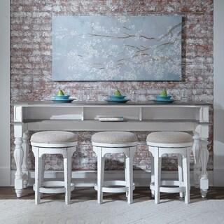 Magnolia Manor Antique White Table 4 Piece Console Set