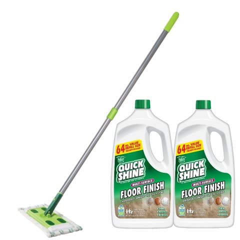 Quick Shine Multi-Surface Floor Finish and Mop Bundle