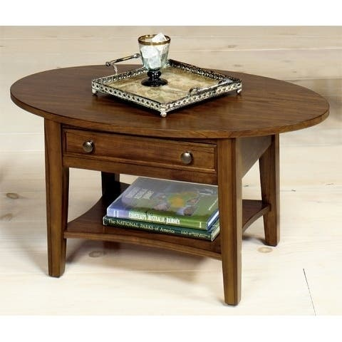 Wood Oval Cocktail Table