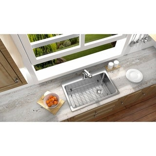 Ancona Dual Mount Single 33 in. Sink with Toledo Faucet Combo