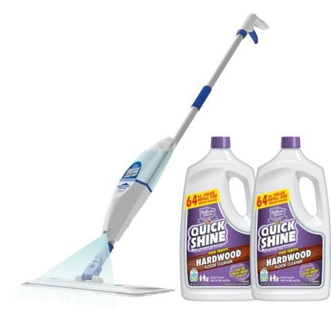 Quick Shine Hardwood Floor Cleaner and Spray Mop Bundle