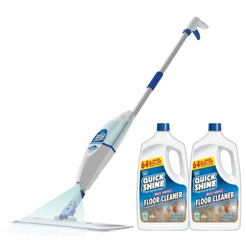 Quick Shine Multi-Surface Floor Cleaner and Spray Mop Bundle