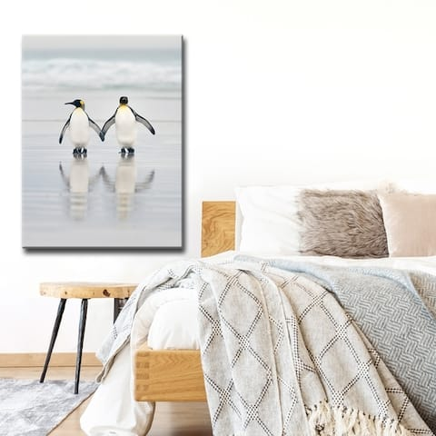 Friends' Penguin Wrapped Canvas Wall Art