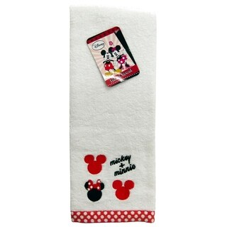 Disney Mickey Mouse/Minnie Mouse Cotton Embroidered Hand Towel